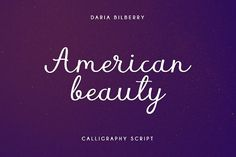 American Beauty by Daria Bilberry on @creativemarket