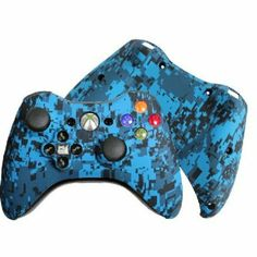 Amazon.com: Custom Xbox 360 Controller Special Edition Blue Urban Evil D-Pad Rechargeable Controller: Video Games #customcontroller #custom360controller #moddedcontroller #Xbox360controller