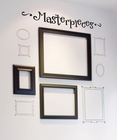 This doesn't take you any tutorial, this just inspired me to use vinyl frames and then add my kids' art work in the middle.  I can rotate them easily.