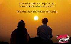 Friendship Dialogues, Friendship Shayari, Romantic Dialogues, Movie Dialogues, Yjhd Quotes, Movie Quotes, Life Quotes, Free Song Lyrics, Bollywood Quotes