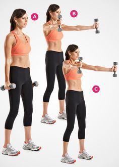 SHOULDERS: Scaption and Shrug http://www.womenshealthmag.com/fitness/best-workout-for-women/slide/8