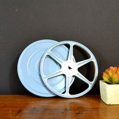 Industrial Blue Movie Film Reel & Case 8mm by ThoughtCakeLiving
