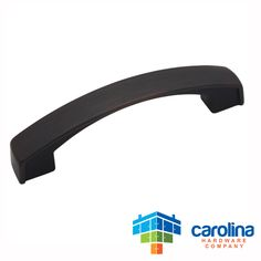 "Carolina Hardware Company Oil Rubbed Bronze Cabinet Hardware Handle Pull 3-3/4"" Inch Hole Centers (96mm)"