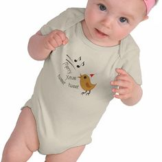 NEW: Cute Christmas Birdie Baby's T-Shirt by Graphic Allusions. $26.95 #christmas #xmas #onesie #babyclothes #baby #babies #cute