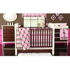 LOVE this baby girl bedding set!