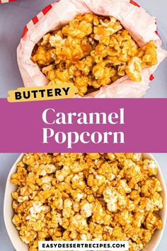 This caramel popcorn recipe is so easy that I highly doubt you'll buy caramel popcorn again! #caramelcorn #popcorn #movienightsnack #easysweetsnack Potluck Desserts, Summer Dessert Recipes, Easy Gluten Free Desserts, Game Day Appetizers, Popcorn Recipes, Game Day Food, Party Treats, Kid Friendly Meals, Caramel