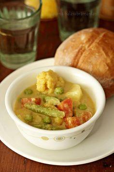 Vegetable Caldeen/ Caldinho de Legumes -  Goan Vegetable & Spiced Coconut Milk Curry