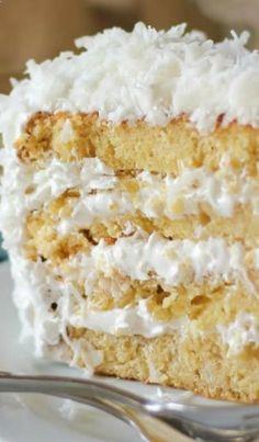 Fluffy Moist Coconut Cake