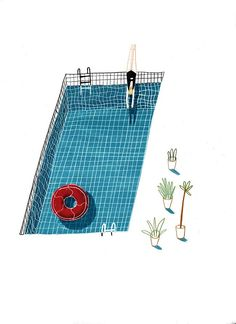 Swimming Pictures - About Today - Illustration by Lizzy Stewart