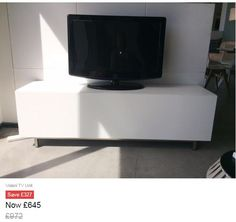 Our Volani Media Unit is finished in Matt White Lacquer and has a pull out drawer with internal shelves. The unit is in very good condition with a small surface mark on the top section (under the TV). Please contact the Manchester showroom for more information/images or to discuss delivery options.  WHITE/BRUSHED STEEL  Height: 49CM Width: 154CM Depth: 40CM #exdisplay #boconcept #manchester #urbandanishdesign #interiors