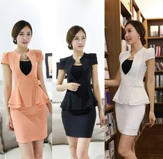 New Fashion Business Women Suits Short Sleeve Summer Jackets And Skirt Ladies Office Blazers Set Work Wear Uniforms Suits