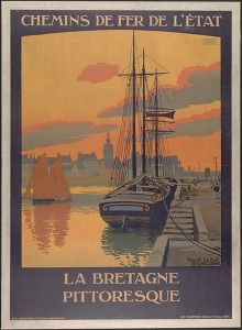 Chemin de fer de l'état La Bretagne pittoresque:Roscoff le port (Tourism & traffic posters France) #Booktower
