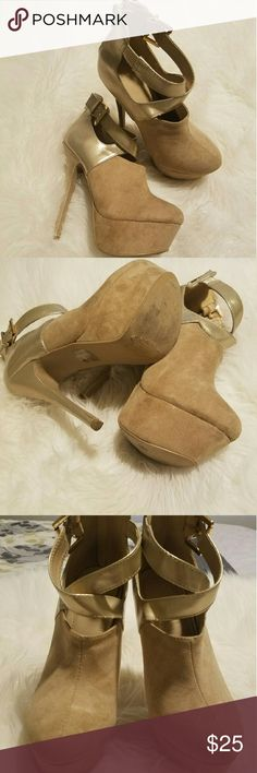 Booties style pumps Only worn once. Really nice heels. Just don't go out as much to really use this. Great for anyone who really has more of a social life. No scuffing.  No flaws. Forever 21 Shoes
