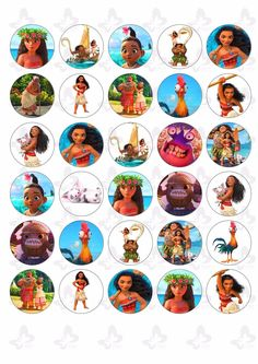 30 Moana Edible Paper Cupcake Cup Cake Topper Image for sale online Moana Theme Birthday, Moana Themed Party, Moana Party, 4th Birthday Parties, Birthday Cupcakes, Birthday Cake Toppers, Moana Cupcake Toppers, Edible Cake Toppers, Images Disney