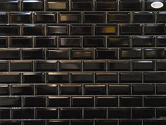 "Black Subway Tile discount glass tile store - metro subway tile - matte black 2"" x 8"