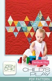 Child's Play Downloadable PDF Quilt Pattern<BR>Zen Chic