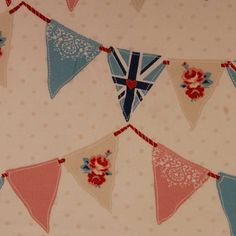 Bunting Fabric Blue