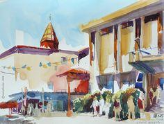 Marion Rivolier - La place Lafayette et la mairie