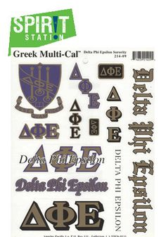 Delta Phi Epsilon Multi-Cal / Sticker Sheet