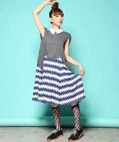 mintdesigns ZIG-ZAG COLLAR DRESS