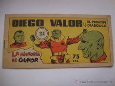 COMIC COMANDANTE ESPACIAL ESPACIO DIEGO VALOR Nº 114 DE LA COLECCION ORIGINAL DEL AÑO 1954 NO COPIA.