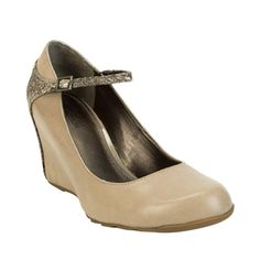 Kenneth Cole Reaction Tell Me Wedge with Snake Print Ankle Strap #VonMaur #KennethCole #Taupe