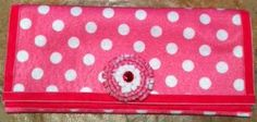 No Sew Felt Wallet with a Felt Flower.  It's easy with this online Tutorial.