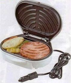 portable grill for the car- for the muti-tasker on the go!