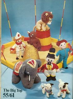 Vintage Knitting PATTERN for Circus soft by graftedartsandcrafts, $3.00