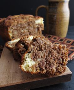 Arctic Garden Studio: Roasted Banana Bread with Cream Cheese Swirl