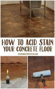 Acid Wash Concrete, Finished Concrete Floors, Diy Concrete Stain, Acid Stained Concrete Floors, Painted Concrete Floors, Painting Concrete, Concrete Bedroom Floor, Concrete Floor Diy, Concrete Floors In House