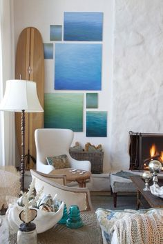 Love the sea canvases