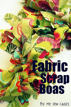 Fabric Boas...great addition to the dress up bin!