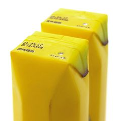 A clever fruit juice packaging that imitates by perfection the product that it is selling.  http://www.toxel.com/inspiration/2009/03/29/juice-skin-packaging-by-naoto-fukasawa/