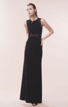 30f775892fdd $398 BCBG MaxAzria Black Maryana Floral Embroidered Illusion Panel Gown NWT  B698 #BCBGMaxAzria #EmpireWaist