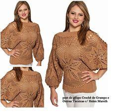 blusa de crochê como fazer