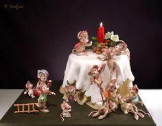 Mouse-Christmas - by neli @ CakesDecor.com - cake decorating website