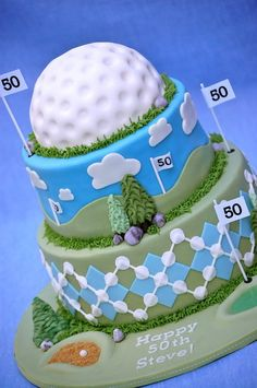 Cute Golf Cake for any occasion! #golf #lorisgolfshoppe