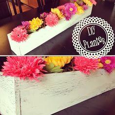 DIY Planter Box Table Runner