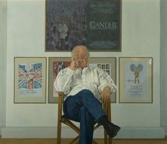 Sir Richard Attenborough director of Gandhi and star of Jurassic Park, by Bryan Organ Marriage Help, Happy Marriage, Marriage Advice, Your Paintings, Portrait Paintings, Acrylic Paintings, Richard Attenborough, Art Uk, Gandhi
