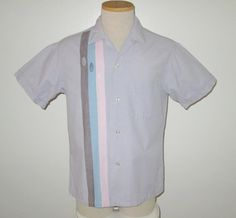Vintage 1950s Lavender Striped Shirt By Brent - Size S, M by SayItWithVintage on Etsy