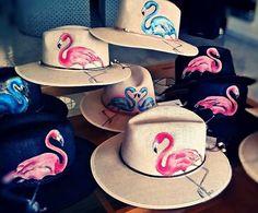 Flamingos hats!!!!!By Sissy Matinou