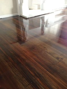 Coloured matai stained with a mid brown and dark walnut mixture.