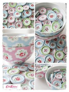 Sommerhusliv all year : Cath Kidston wooden buttons Cath Kidston Crochet, Cath Kidston Home, Pip Studio, Colour Pallete, Button Crafts, Love Sewing, Vintage Buttons, Shabby Chic Decor, Vintage Patterns