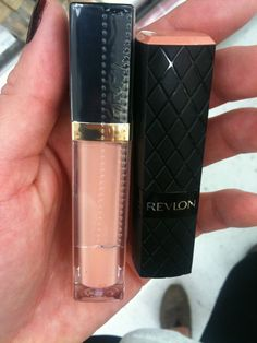 Revlon Soft Nude Lipstick and Peach Petal Lip Gloss. This is one gorgeous nude lip!