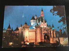 1955 Disneyland Jumbo Postcard Sleeping Beauty's Castle at Night in Fantasyland by VintageDisneyana on Etsy