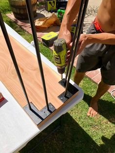 As we head into summer, make yourself an easy and affordable outdoor bar area! Whether its placed against your hot tub like ours, or just an extra space for foo… Hot Tub Bar, Hot Tubs, Diy Outdoor Bar, Outdoor Theatre, Outdoor Living, Outdoor Decor, Metal Shed, Wood Wax, Patio Ideas