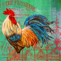 Le Rooster Heaven-b Painting  - Le Rooster Heaven-b Fine Art Print