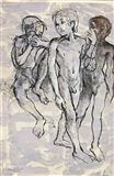 Donald Friend - NUDE STUDIES BALI, 1974, ink and... on MutualArt.com