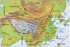 Pour comprendre la répartition géographique du thé en Asie, il faut observer l'altitude : Chine, Taiwan, Birmanie, Vietnam, Népal, Inde, Corée, Japon (800×543)